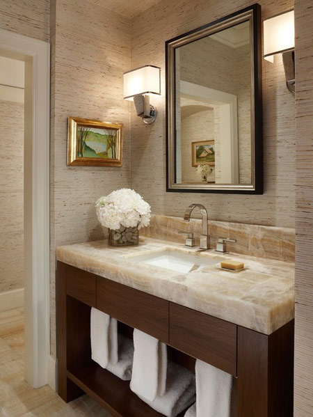 طراحی حمام با سنگ, طراحی و چیدمان حمام