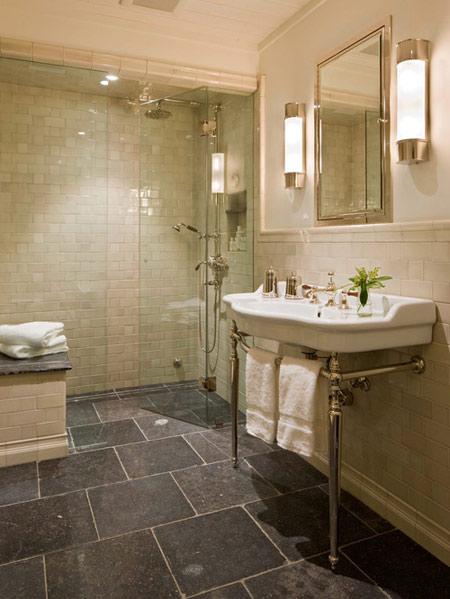 زیباترین سنگ های حمام,طراحی سنگ برای کف و دیوار حمام