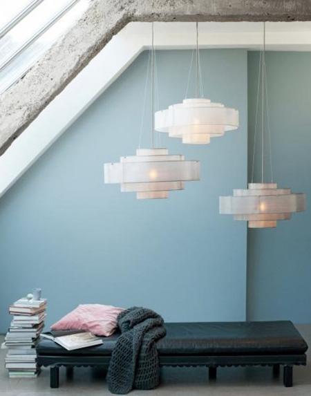 روشنایی های دکوراتیو به شکل آویزهای سقفی, لوسترهای دکوراتیو برای خانه های با سبک مدرن