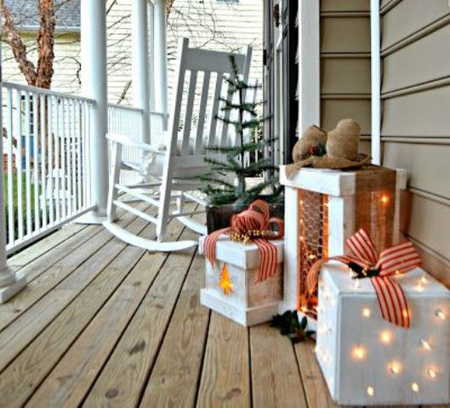 نورپردازی کریسمس ورودی خانه, تزیینات کریسمس