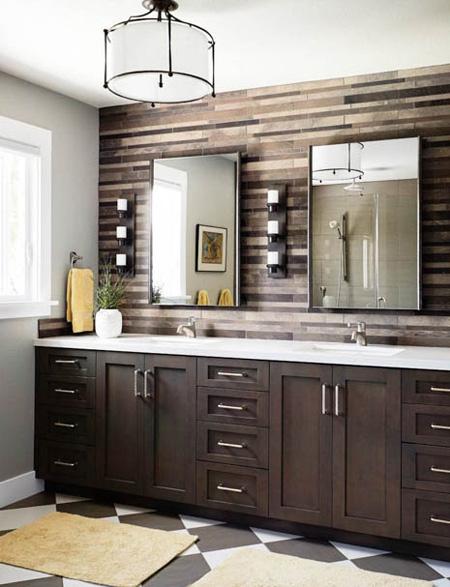 دکوراسیون حمام,طراحی دیوار حمام