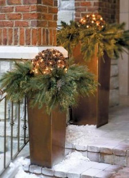 تزیینات کریسمس خانه,نورپردازی ورودی