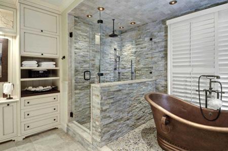 استفاده از سنگ آنتیک در حمام,دکوراسیون حمام