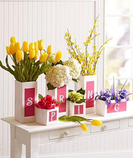 دکوراسیون و چیدمان گل های بهاری, دکوراسیون خانه با گل های بهاری