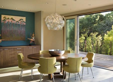 رنگ آبی فیروزه ای در دکوراسیون غذا خوری, بهترین ترکیب رنگ اتاق غذاخوری