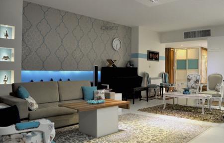 طراحی خانه با رنگ طوسی,فضای داخلی خانه با رنگ طوسی