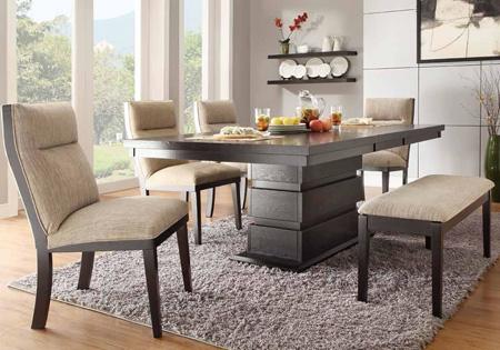 میز و صندلی ناهارخوری, میز و صندلی غذاخوری نیمکتی