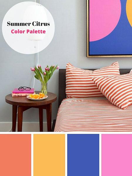 ترکیب رنگ های زیبا برای فصل تابستان,دکوراسیون و چیدمان خانه با رنگ های تابستانی