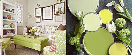 ترکیب رنگ های تابستانی برای اتاق نشیمن,دکوراسیون اتاق نشیمن