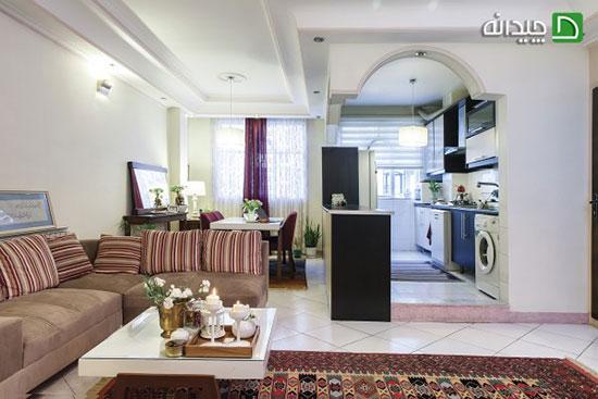 دکوراسیون آپارتمان ایرانی، خلاقیت در خانه اجاره ای فهیمه!