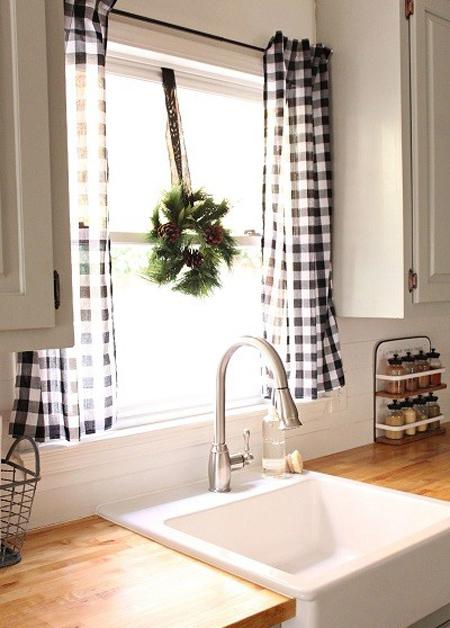 پرده آشپزخانه ساده,مدل پرده آشپزخانه گل گلی