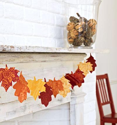 خانه زیبای پاییزی
