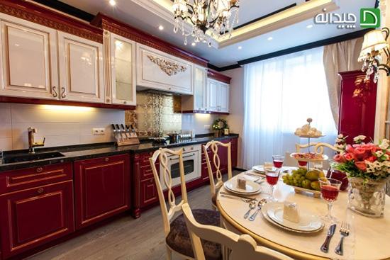 رنگ قرمز در آشپزخانه، این دکوراسیون به درد لاغرها میخورد!