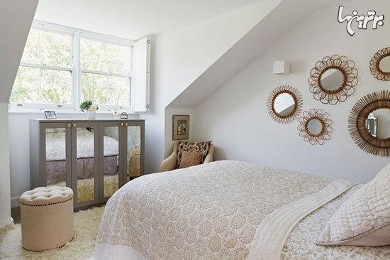 اتاق خواب های جذاب به رنگ خاکستری و سفید