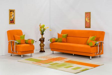 دکوراسیون و چیدمان خانه به رنگ نارنجی